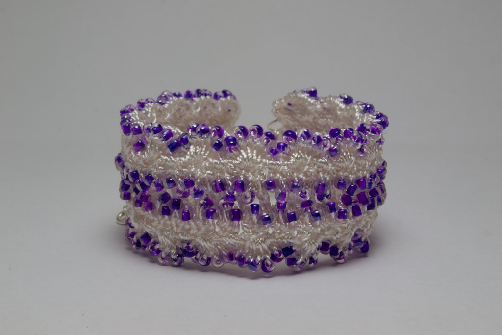 Shimmer Rocaille Crochet Bracelets
