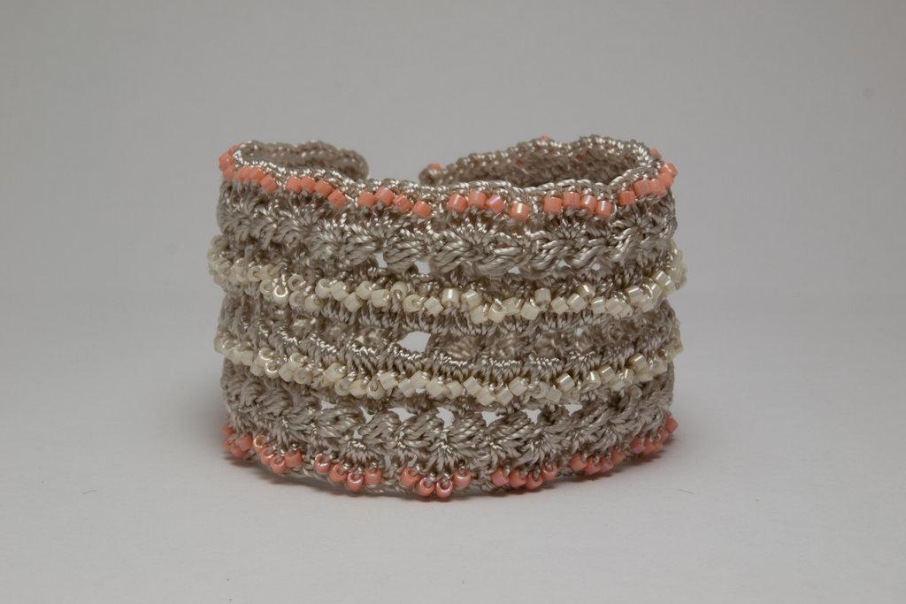 Shimmer Delica Crochet Bracelets